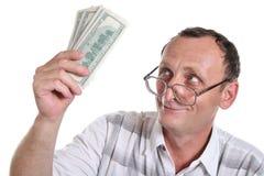 Mayor con el dinero Fotografía de archivo libre de regalías