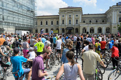 Mayor cycling event in Cracow with 3500 participants Stock Photography