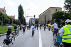 Mayor cycling event in Cracow with 3500 participants Royalty Free Stock Photos