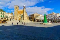 Mayor da plaza em Trujillo fotos de stock royalty free