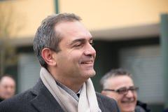 The mayor De Magistris visit Scampia - Italy Stock Photo