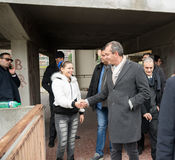 The mayor De Magistris visit Scampia - Italy Stock Image