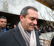 The mayor De Magistris visit Scampia - Italy Stock Photos