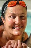 Mayor en la piscina Imágenes de archivo libres de regalías