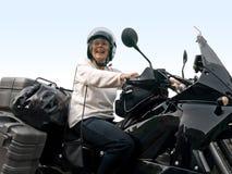 Mayor en una moto foto de archivo libre de regalías