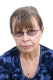 Mayor femenino de mirada severo Imágenes de archivo libres de regalías