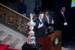 Mayor Gavin Newsom welcomes america's cup Royalty Free Stock Photos