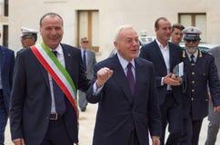 Mayor Giancarlo mazzotta Gianni Letta i mr fotografia stock