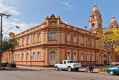 Mayor House and Cathedral of Santo Angelo Brazil Royalty Free Stock Photography