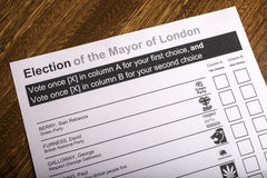 Mayor of London Election Royalty Free Stock Photography