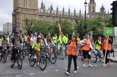 Mayor of London's Skyride Cycling Event in London, England Royalty Free Stock Images