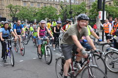 Mayor of London's Skyride Cycling Event in London, England Royalty Free Stock Image