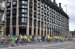 Mayor Londyn Skyride kolarstwa wydarzenie w Londyn, Anglia Obrazy Royalty Free