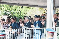 Mayor Marquinhos Trad at the celebration of the 119 years of the. Campo Grande, Brazil - August 26, 2018: Civic Parade desfile civico at 13 de Maio street. Mayor stock images