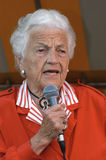 Mayor McCallion. Mississauga Mayor Hazel McCallion addressing the participants to the 2006 Relay for Life organized by the Canadian Cancer Society. The 12 hours Royalty Free Stock Image