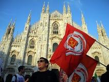 Mayor novo de Giuliano Pisapia do domo de Milão da abóbada de Milão imagens de stock