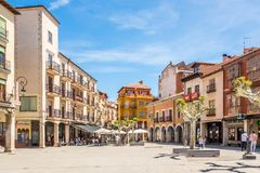 AT the Mayor place of Aranda de Duero in Spain stock images