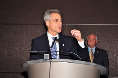 Mayor Rahm Emanuel de Chicago imagem de stock royalty free
