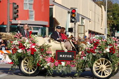 Mayor at Rose Parade Pasadena Royalty Free Stock Photography