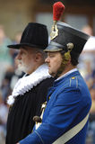 Mayor and soldier in historical clothes Stock Image
