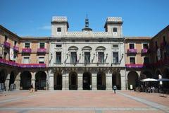 The Mayor Square in Avila, Spain stock photo
