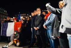 Mayor Strasburg, Roland Reis między ludźmi Zdjęcia Royalty Free
