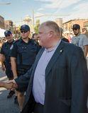 Mayor of Toronto Rob Ford visits Salsa on St. Clair Royalty Free Stock Images