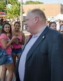 Mayor of Toronto Rob Ford visits Salsa on St. Clair Royalty Free Stock Photography