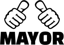 Free Mayor With Thumbs. T-Shirt Design. Royalty Free Stock Images - 107100569