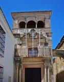 Mayorazgo palace, Arcos de la Frontera, Spain. Entrance and balcony of Mayorazgo Palace, Arcos de la Frontera, Cadiz Province, Andalusia, Spain, Western Europe Stock Photos