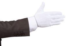 Mayordomos apretón de manos, aislado Imagen de archivo libre de regalías