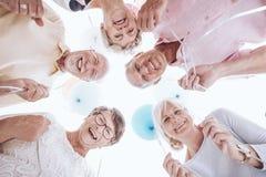 Mayores que miran abajo Imagen de archivo libre de regalías