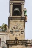 Mayorga παππούς στον πύργο ρολογιών, Plasencia Στοκ εικόνα με δικαίωμα ελεύθερης χρήσης