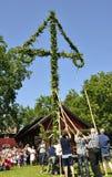 Maypole świętowanie Zdjęcie Royalty Free