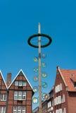 Maypole в Munster, Германии Стоковые Фото