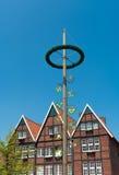 Maypole в Munster, Германии Стоковые Фотографии RF