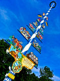 Maypole bávaro tradicional, Alemanha Fotografia de Stock Royalty Free
