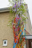 Maypole at the building Stock Photos