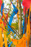 Maypole at the building Stock Photography