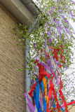 Maypole at the building Stock Images