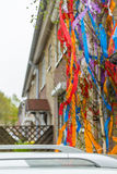Maypole at the building Royalty Free Stock Photos