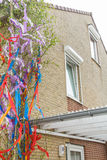 Maypole at the building Royalty Free Stock Photo