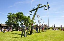 Maypole celebration Stock Photography