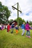 Maypole celebration Stock Photo