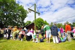 Maypole celebration Royalty Free Stock Photo