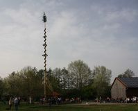 Maypole celebration Stock Images