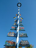 Maypole at farmers market Munich Stock Image