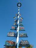 Maypole at farmers market Munich Stock Image