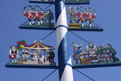 Maypole in Munich Stock Photos