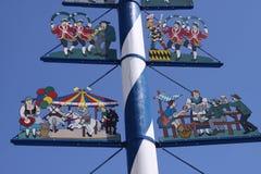 Maypole in Munich. A typical traditional maypole in Munich in Bavaria Stock Photos